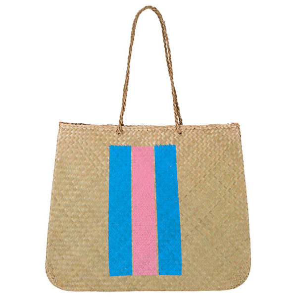 Straw Bag With Stripe
