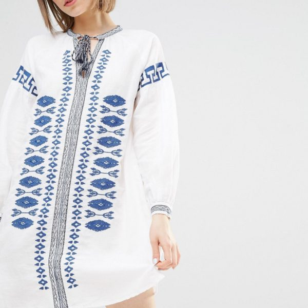 Warehouse Embroidered Folk Tunic