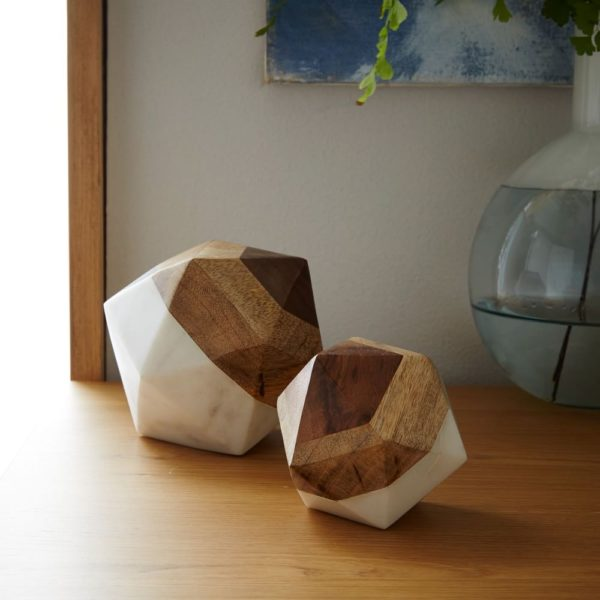 Wood and Marble Decorative Object