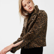 Mango Animal Print Biker Jacket