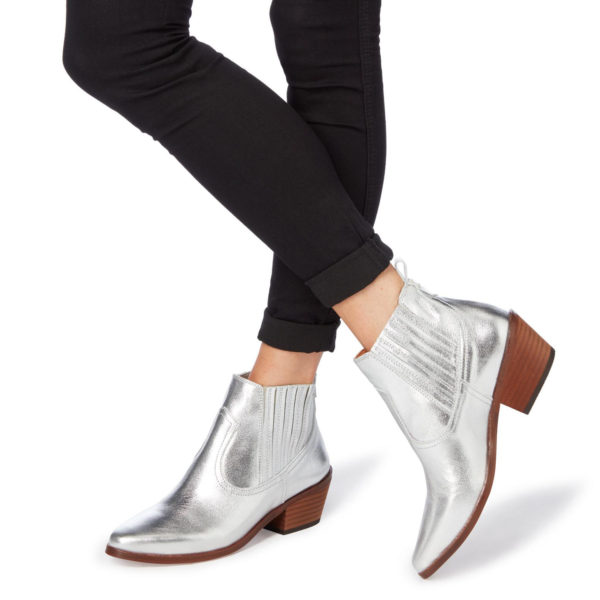 Dune Silver Boots