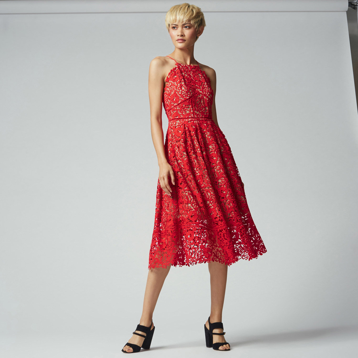 Warehouse Lace Dress