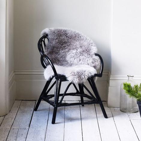 Silver Sheepskin Rug