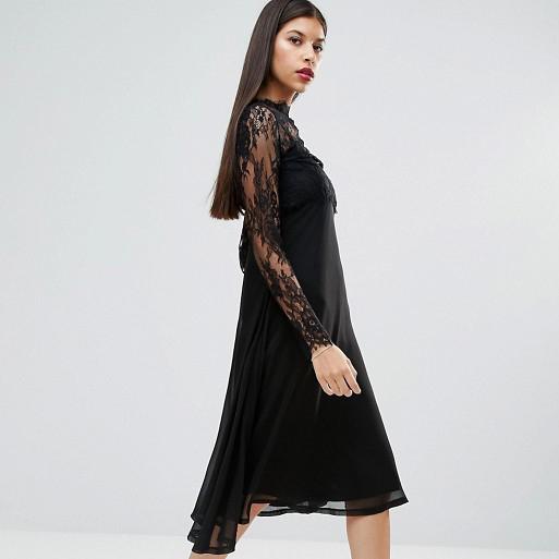 black lace dress Asos