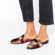Asos floral velvet loafers