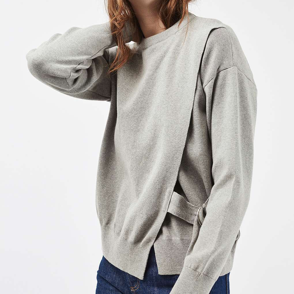 6b233988fd75 D-ring Wrap Sweatshirt - The Lucy Edit