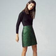 warehouse jacquard skirt