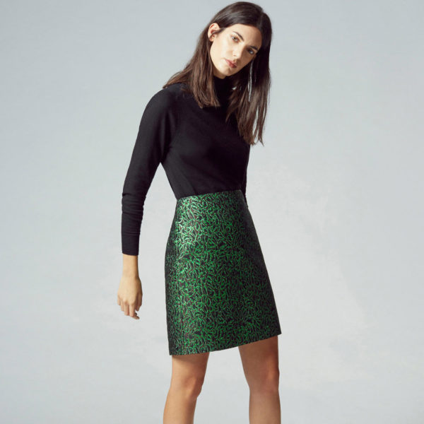 warehouse jacquard skirt