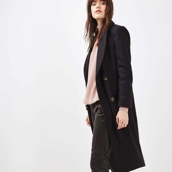 Topshop midi coat