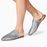 Silver weave mules