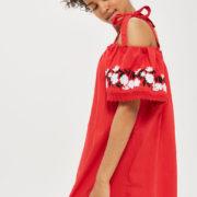 Red Bardot Dress