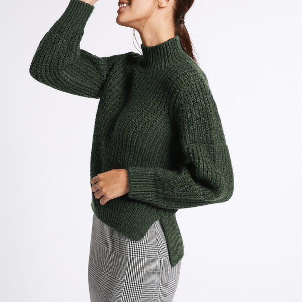 M&S Funnel Neck Jumper