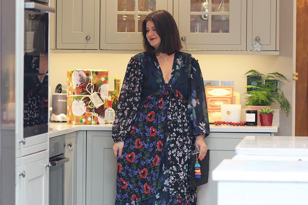 Floral maxi dress1