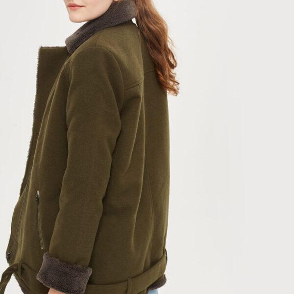 Khaki aviator jacket