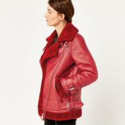red aviator jacket