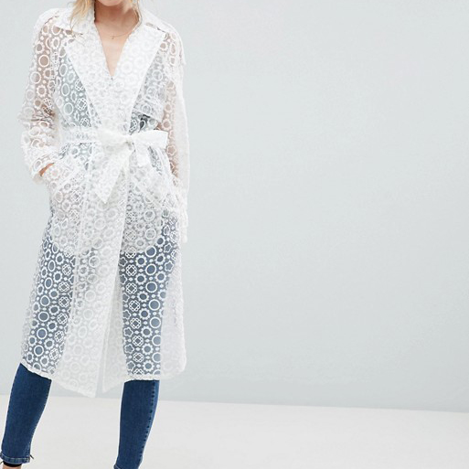 Asos Organza Trench Coat