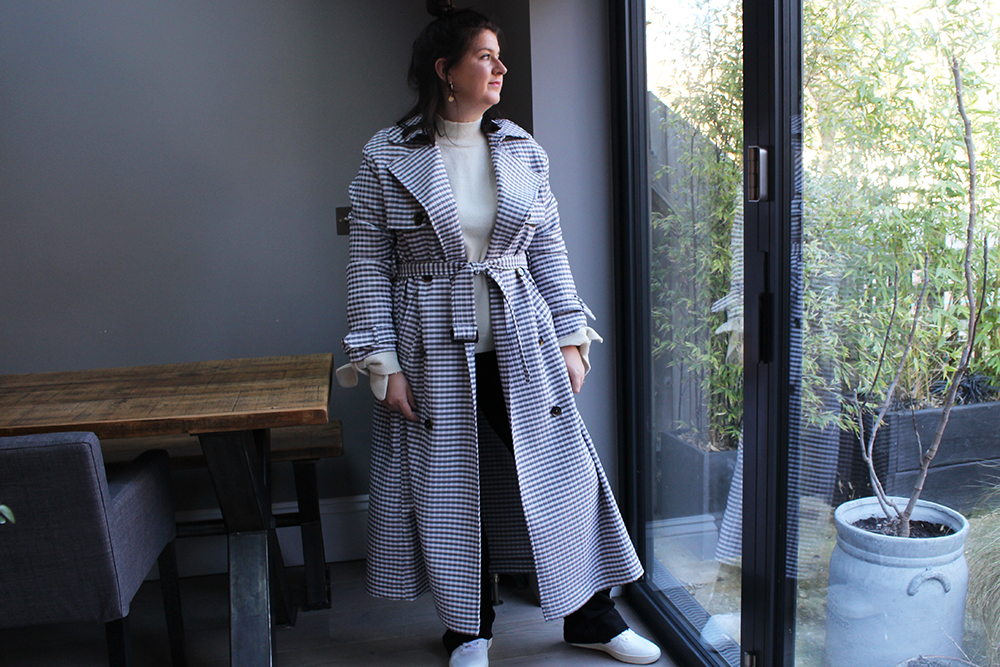 Gingham Trench1
