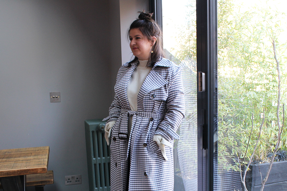 Gingham Trench6