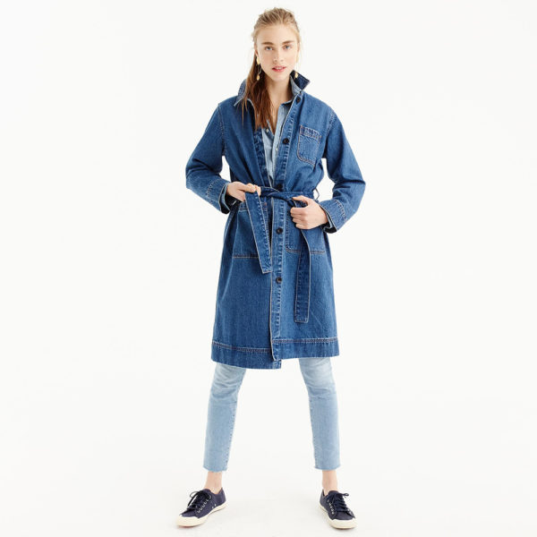 Jcrew denim trench coat