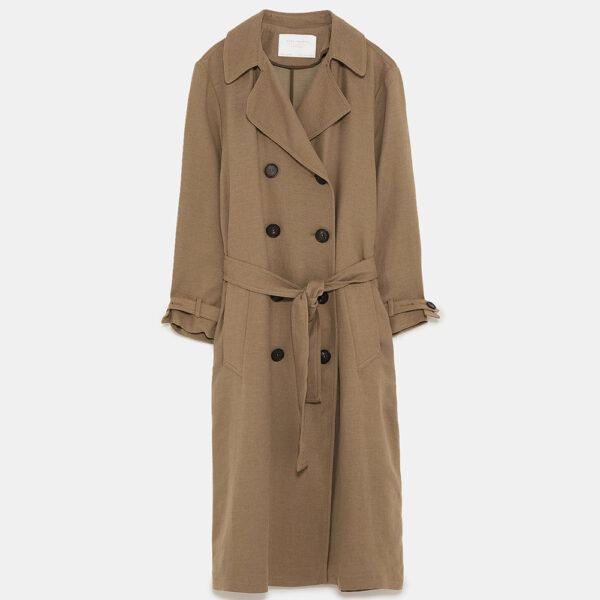 Zara linen trench coat