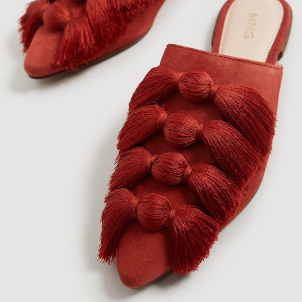 Mango fringed shoes