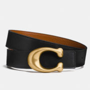 Coach signature reversible belt