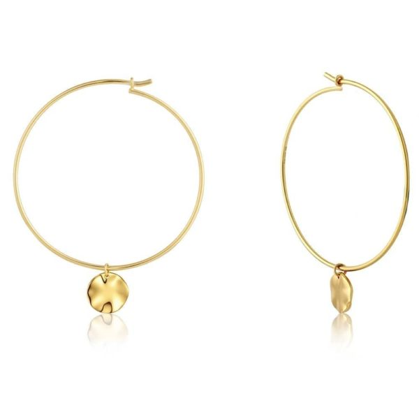 Ania Haie Gold Hammered Hoops
