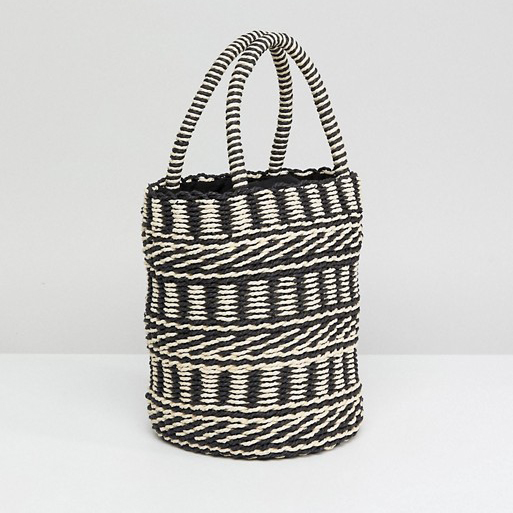 Asos Straw Bucket Bag
