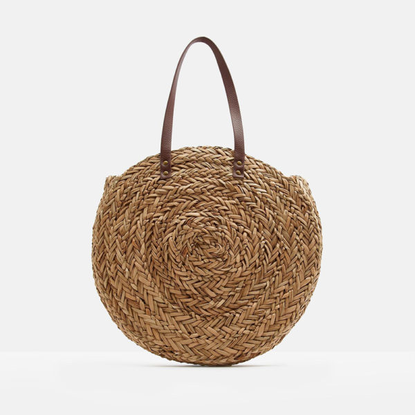 Joules Round Straw Bag