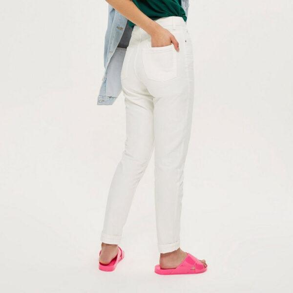 Moto White Mom Jeans Topshop