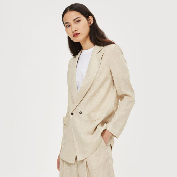 Topshop linen mix blazer