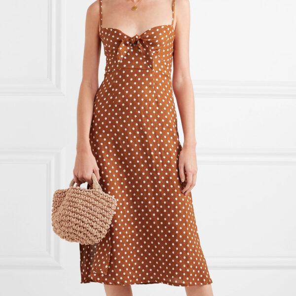 Polka Dot Linen Dress