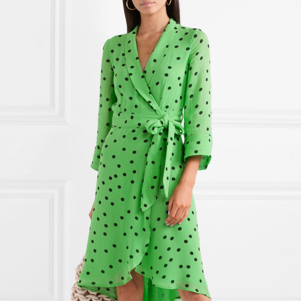 Polk Dot Georgette Dress