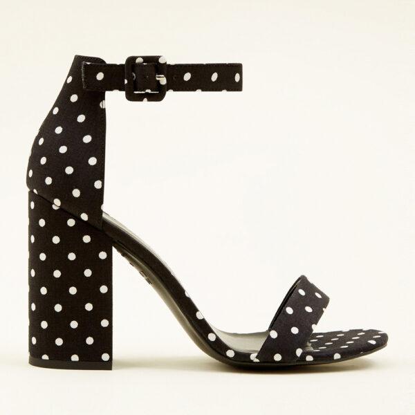 Polka Dot Block Heel Sandals