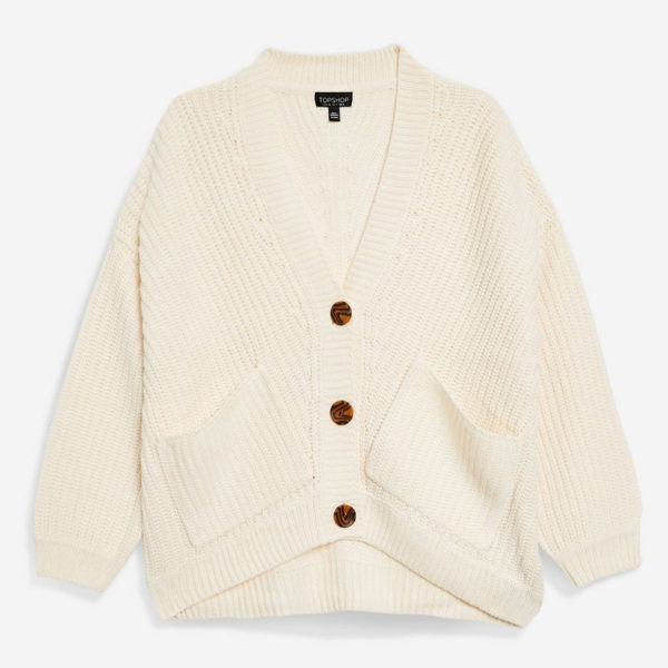 Topshop Ribbed Cardigan