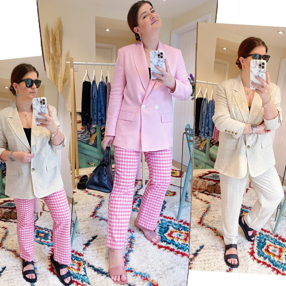 gingham_trousers_chunky_sandals_linen_suit