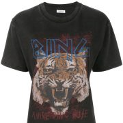 charcoal t-shirt with tiger print and anine bing writing