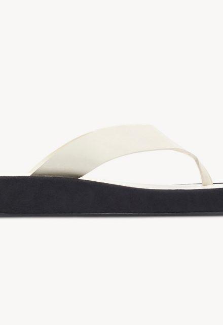 white toe post chunky flatform sandals the row