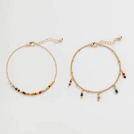 colourful anklets