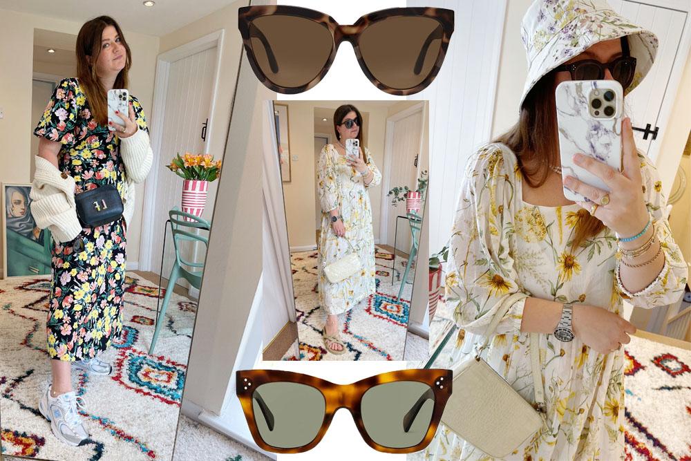 tortoiseshell sunglasses and summer dresses
