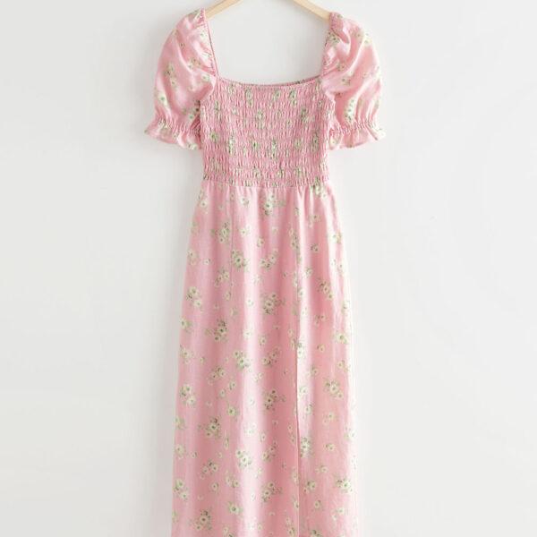 pale pink floral dress